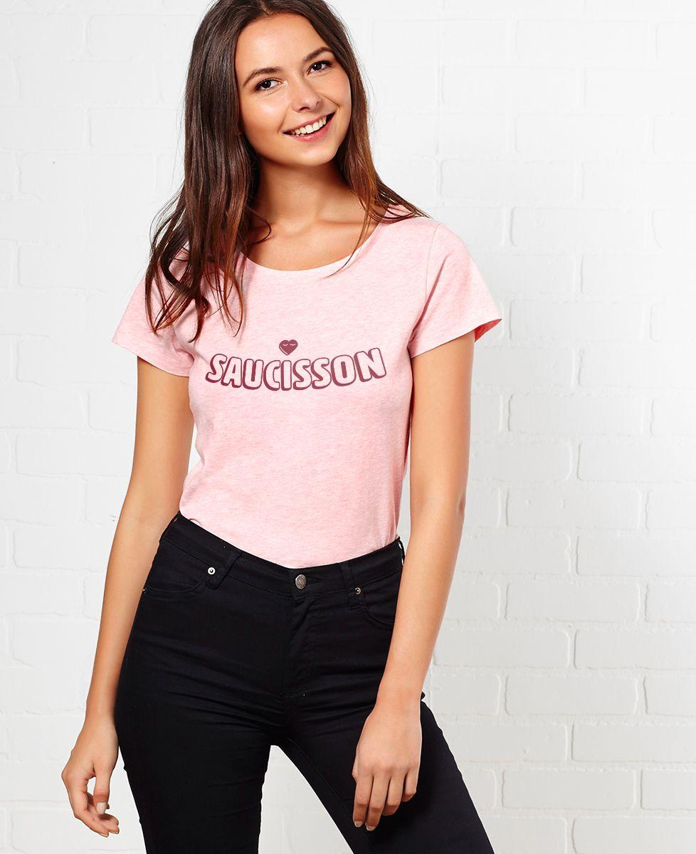 T-Shirt femme Saucisson coeur