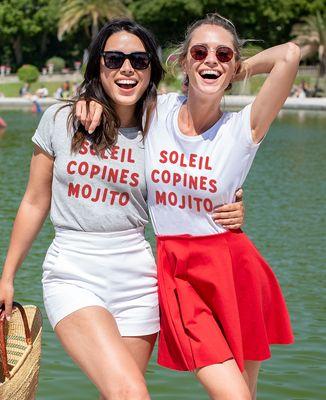 T-Shirt femme Soleil copines mojito
