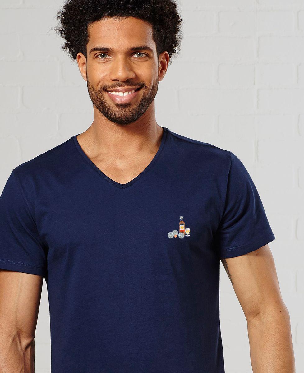T-Shirt homme P'tit jaune & pétanque (brodé)