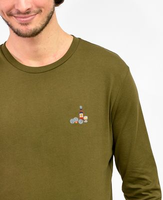 T-Shirt homme manches longues P'tit jaune & pétanque (brodé)