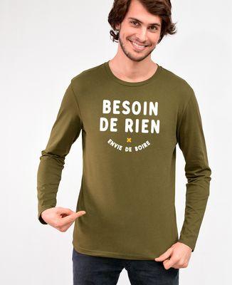 T-Shirt homme manches longues Besoin de rien envie de boire
