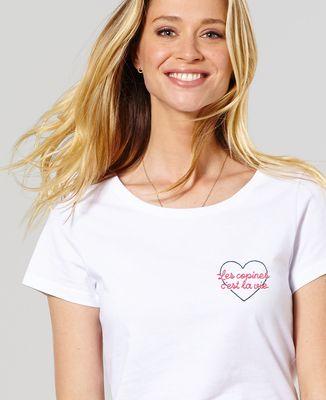 T-Shirt femme Les copines c'est la vie (brodé)
