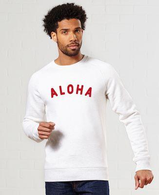 Sweatshirt homme Aloha (effet velours)