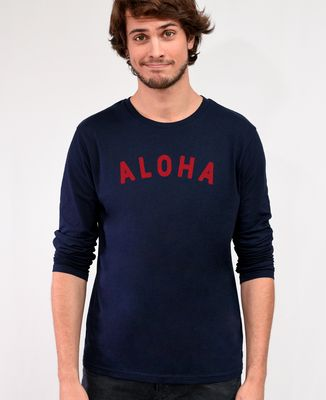 T-Shirt homme manches longues Aloha (effet velours)