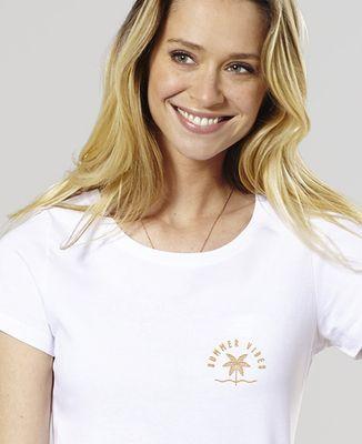 T-Shirt femme Summer vibes (brodé)