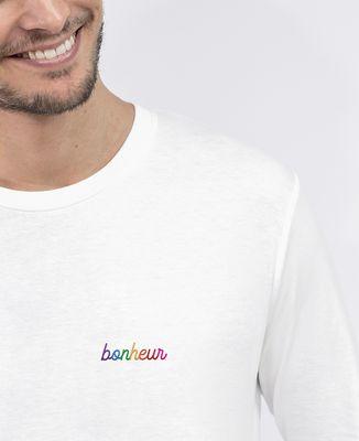 T-Shirt homme manches longues Bonheur (brodé)