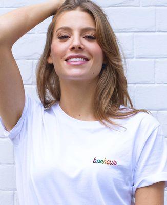 T-Shirt femme Bonheur (brodé)