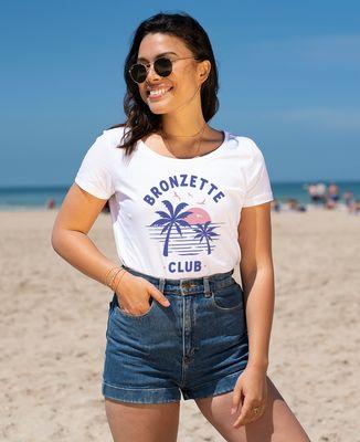 T-Shirt femme Bronzette Club