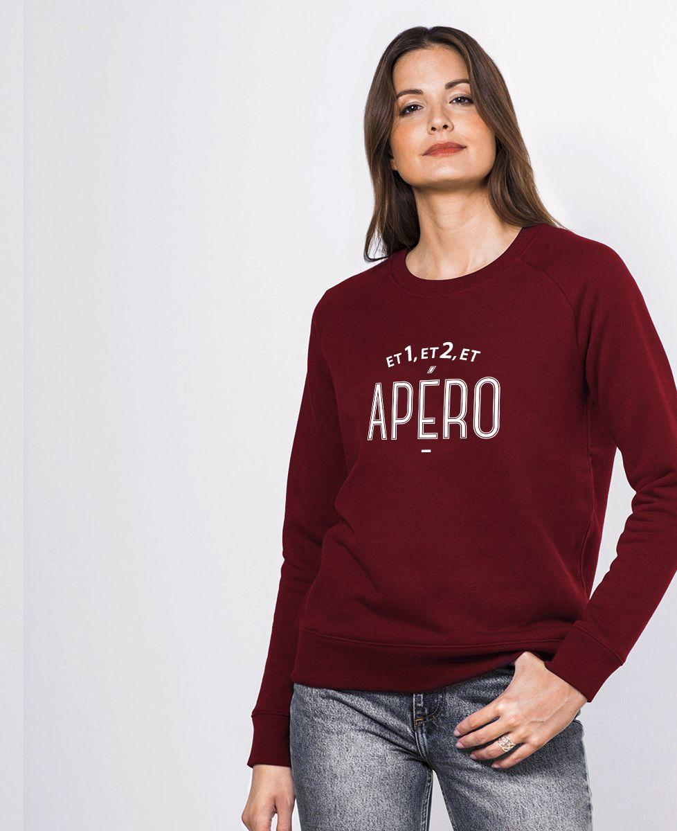 Sweatshirt femme Et 1, et 2 et apéro