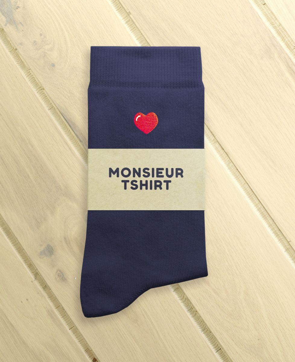 Chaussettes homme Coeur (brodé)