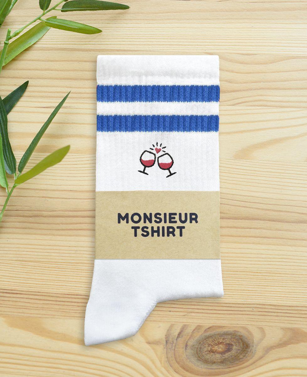 Chaussettes homme Tchin tchin (brodé)
