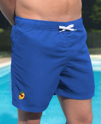 Short de Bain Citron cool (brodé)