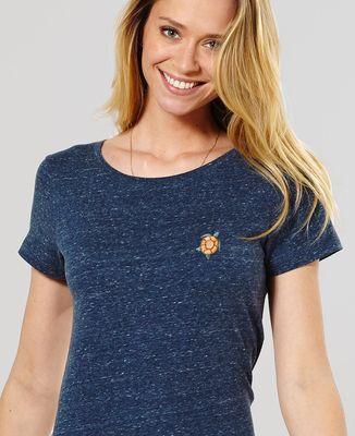 T-Shirt femme Tortue de mer (brodé)