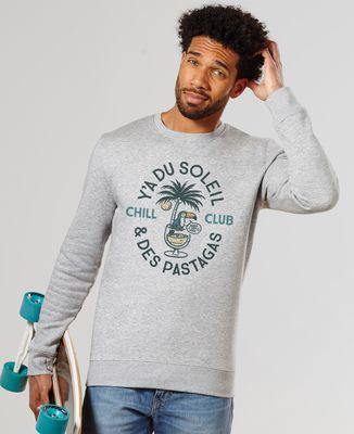 Sweatshirt homme Y'a du soleil et des pastagas