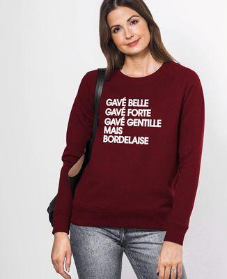 Sweatshirt femme Gavé Belle Bordeaux