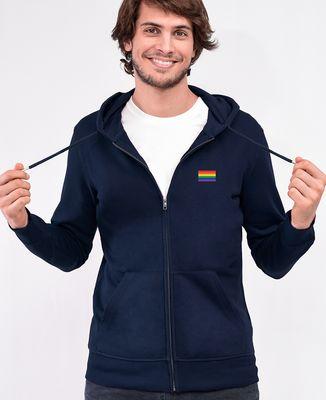 Hoodie zippé homme Drapeau LGBT