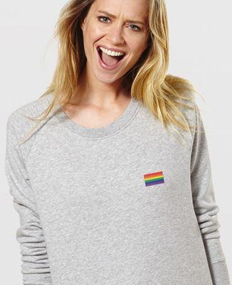 Sweatshirt femme Drapeau LGBT (brodé)