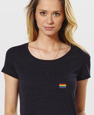 T-Shirt femme Drapeau LGBT (brodé)
