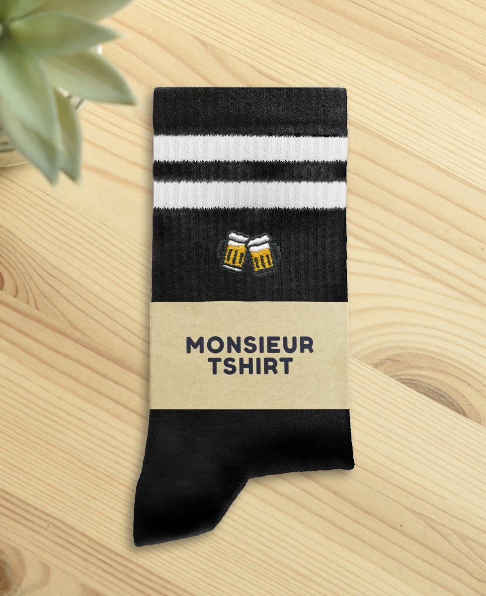 Chaussettes homme Pintes de bière (brodé)
