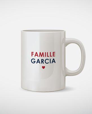 Mug Nom de famille brodé personnalisé