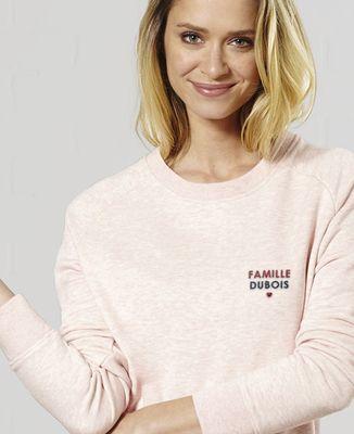 Sweatshirt femme Nom de famille brodé personnalisé