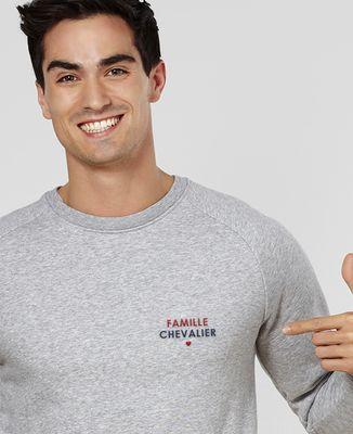 Sweatshirt homme Nom de famille brodé personnalisé