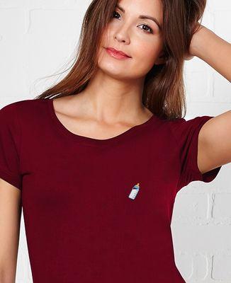 T-Shirt femme Biberon bleu (brodé)
