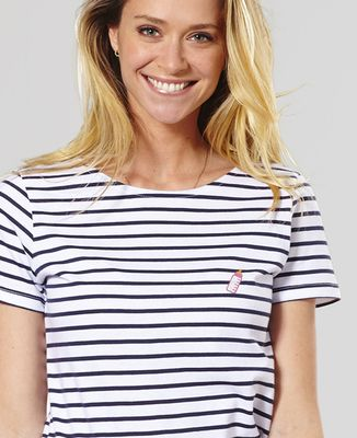T-Shirt femme Biberon rose (brodé)