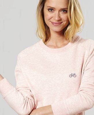 Sweatshirt femme Vélo tricolore (brodé)
