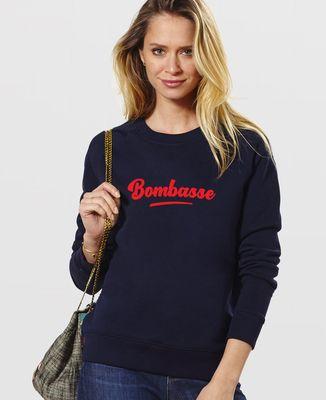 Sweatshirt femme Bombasse (effet velours)
