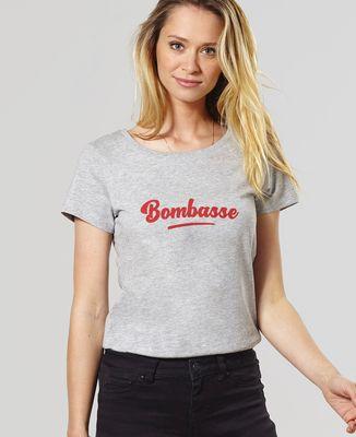 T-Shirt femme Bombasse (effet velours)