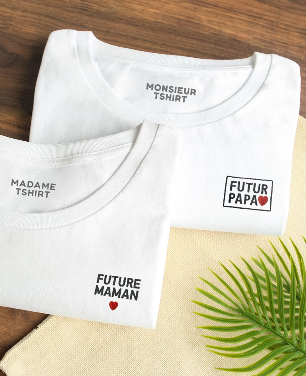 T-Shirt femme Future maman (brodé)