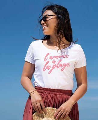 T-Shirt femme L'amour à la plage