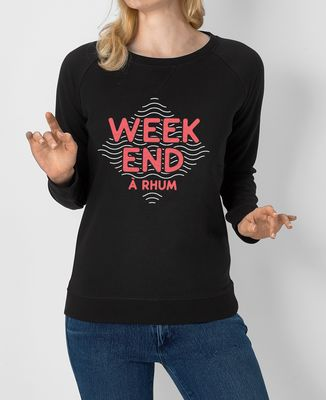Sweatshirt femme Weekend à rhum
