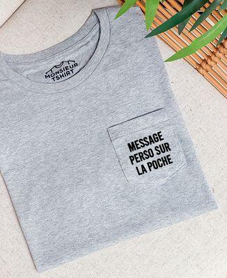 T-Shirt à Poche Message imprimé personnalisé