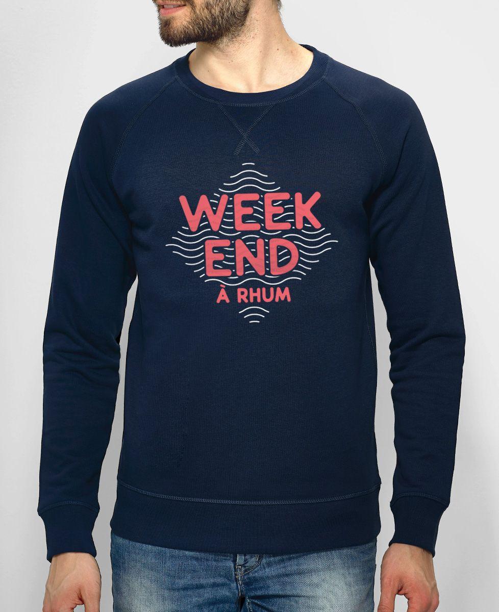 Sweatshirt homme Weekend à rhum