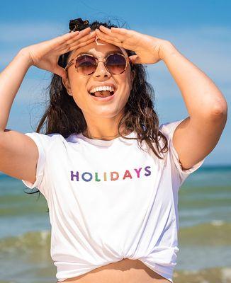 T-Shirt femme Holidays (brodé)