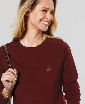Sweatshirt femme Cerises (brodé)