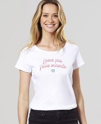 T-Shirt femme J'peux pas j'suis enceinte