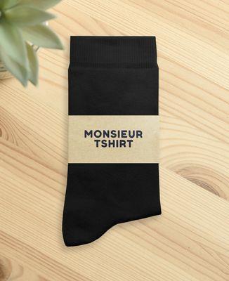 Chaussettes homme Petit coeur brodé personnalisé