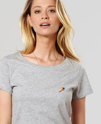 T-Shirt femme Perroquet (brodé)