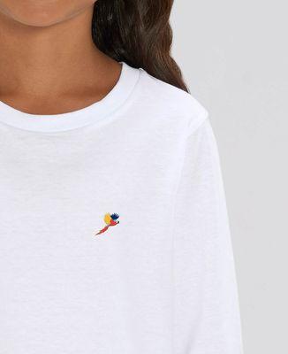 T-Shirt enfant manches longues Perroquet (brodé)