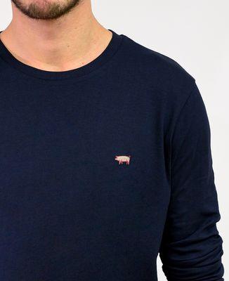 T-Shirt homme manches longues Cochon (brodé)