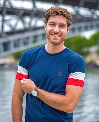T-Shirt homme Filgood Homard (brodé)