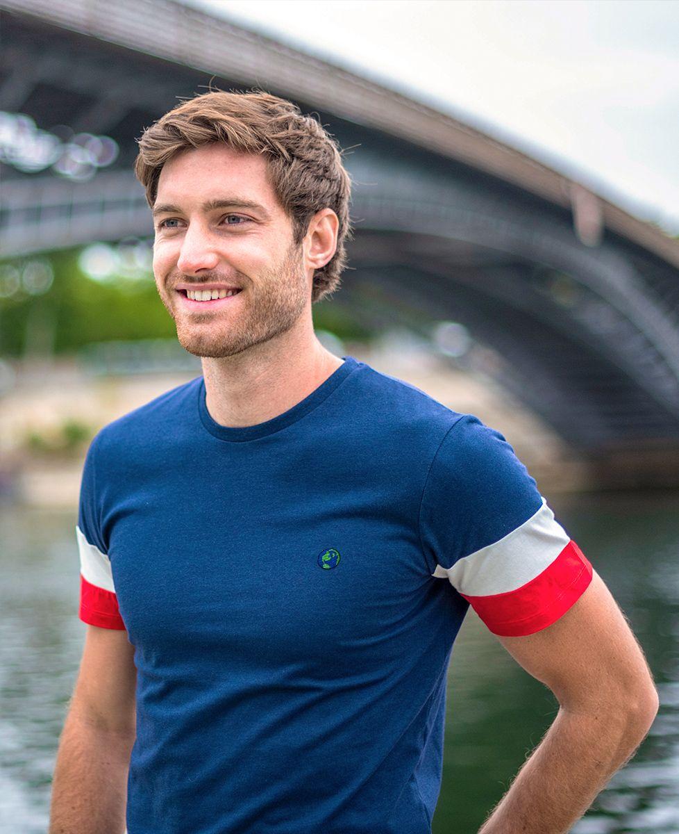 T-Shirt homme Filgood Planète Bleue (brodé)