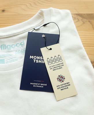 T-Shirt homme Filgood A bicyclette (effet velours)