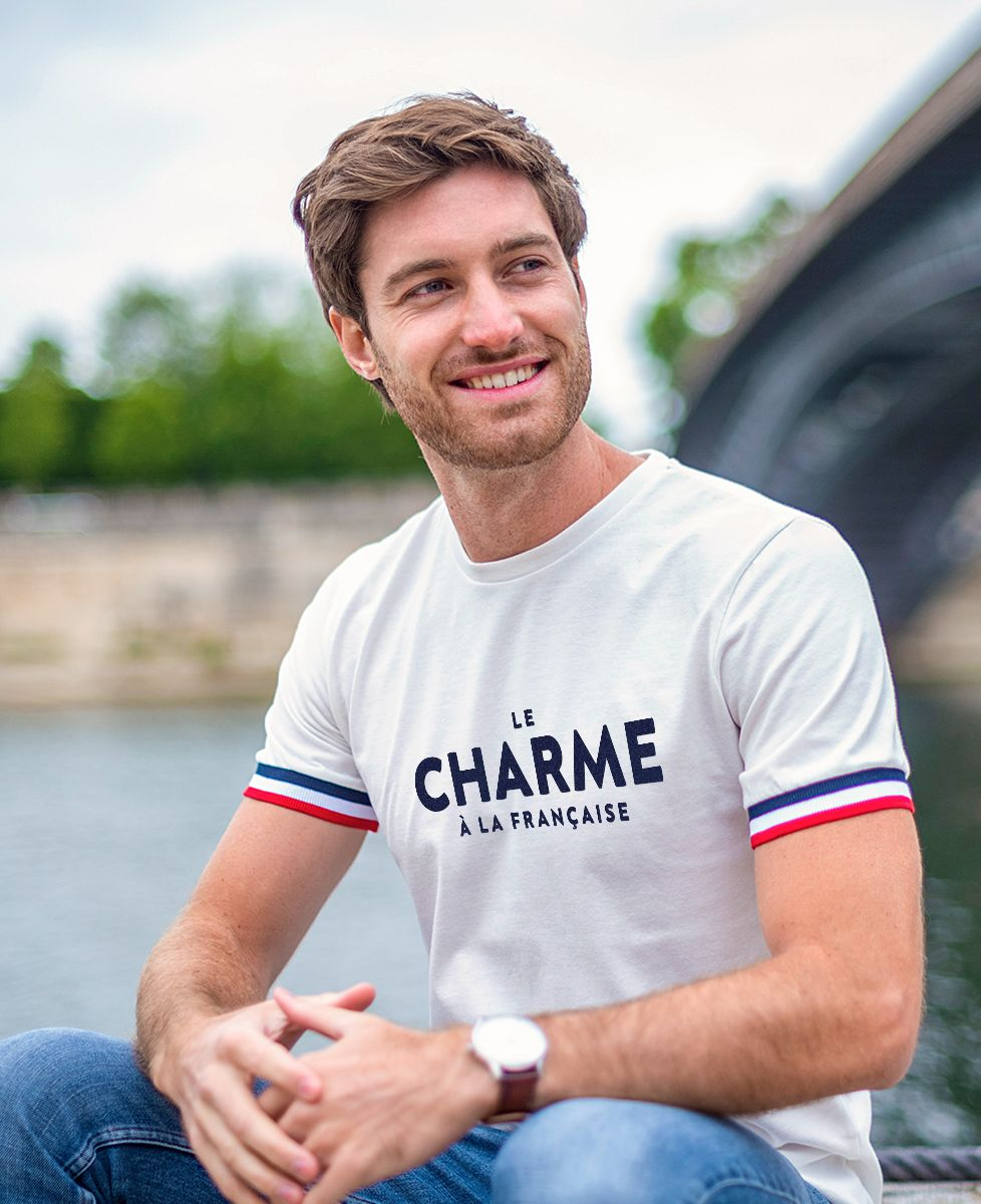 T-Shirt homme Filgood Le charme à la française (effet velours)