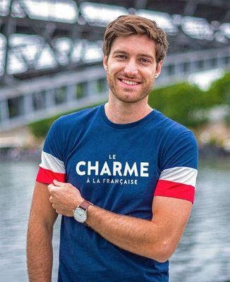 T-shirt homme recyclé Filgood Le charme à la française (effet velours)