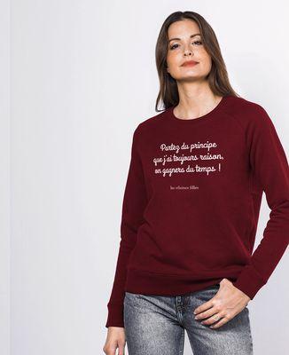 Sweatshirt femme Partez du principe