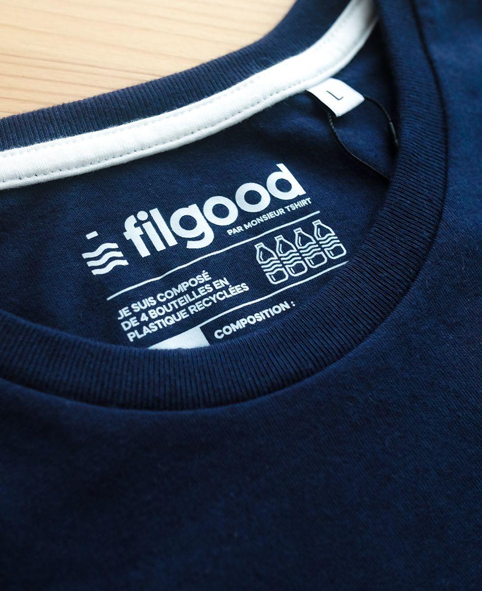 T-Shirt homme Filgood Monsieur (effet velours)